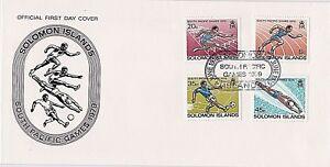 Acheter Pas Cher Salomon 1979 Fdc - 6th Pour Jeux Du Pacifique-running-obstacles-soccer - Natation AgréAble En ArrièRe-GoûT