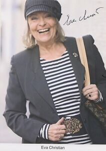 Eva-Christian-Autogrammkarte-original-signiert-Schauspielerin