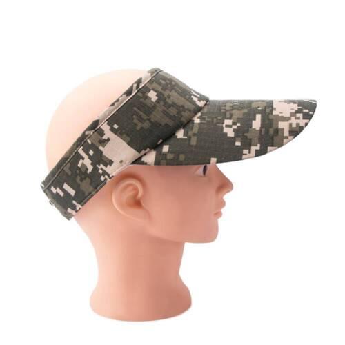 Camouflage Empty Top Adjustable Baseball Cap Sports Outdoor Visor Tennis Hats