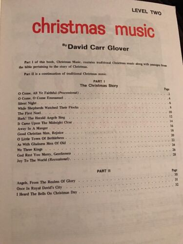 Christmas Music Level Two David Carr Glover Piano Method Book Student Alfred