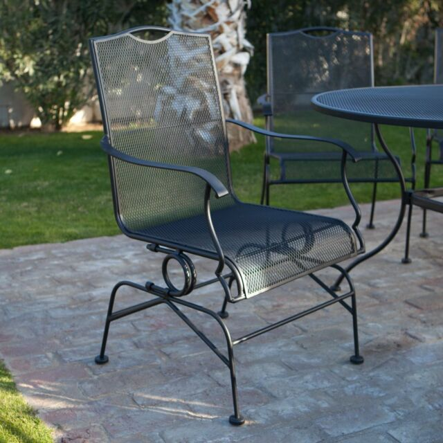 Hamlake Wrought Iron Patio Furniture.Belham Living Stanton Wrought Iron Coil Spring Dining Chair By Woodard Set Of