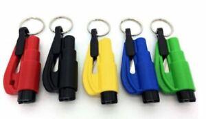 brise vitre ROUGE PORTE CLES SECURITE coupe ceinture