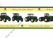 Genuine John Deere Yellow Green Tractor Nothing Run Like a Deer Wallpaper Border