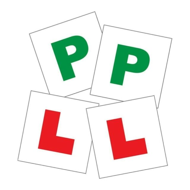 P Plate and L Plate kit Magnetic Strip Passed Pass Driver Plates X2 OF EACH