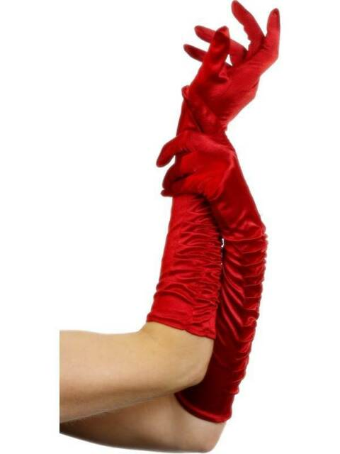 TEMPTRESS GLOVES, RED, SEXY, ONE SIZE, WOMENS