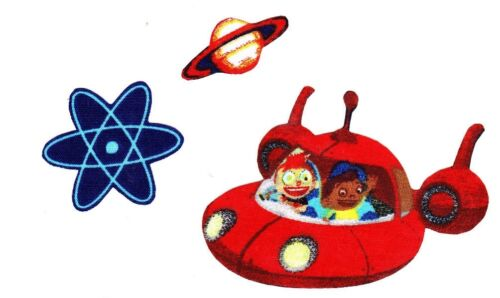 "3.5/"" Little einsteins spaceship fabric applique iron on character"
