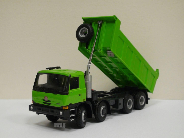 RARE  1 43 TATRA T 815 230S84 8X8 TERRNO 1 camion benne par Kaden, couleur verte