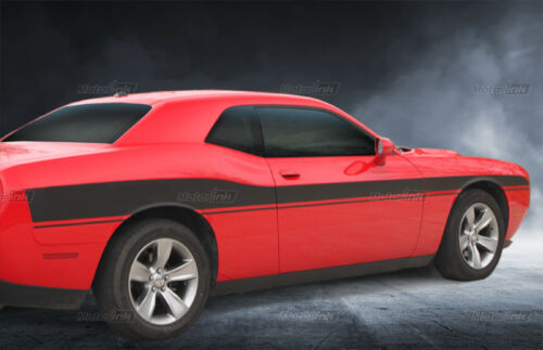 2015 2016 2017 18 Dodge Challenger Mid bodyline Side Rally Stripes Racing Decals