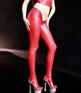 97e9c460dbaba Lady Skinny Latex Pants Zip Low Waist Sexy Pencil Leggings Panti ...