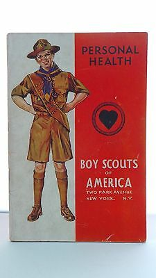 """""""BOY SCOUTS of America PERSONAL HEALTH"""" Vintage 1940 book 'CAUTION w/ LAXATIVES'"""