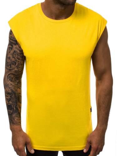 Tanktop T-Shirt Muskelshirt Sport Fitness Aufdruck Sommer Herren OZONEE 7591 MIX