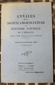 Horticulture & Histoire Naturelle De L'hérault ✤ Annales / N°1 De 1955 Qg2ku0sa-07175809-557236226
