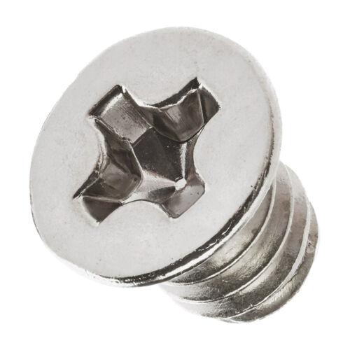 Flat Head Cross Pan Screw Bolt 20x M1.6//M2//M3//M4//M5//M6 Metric Hex Socket Cap