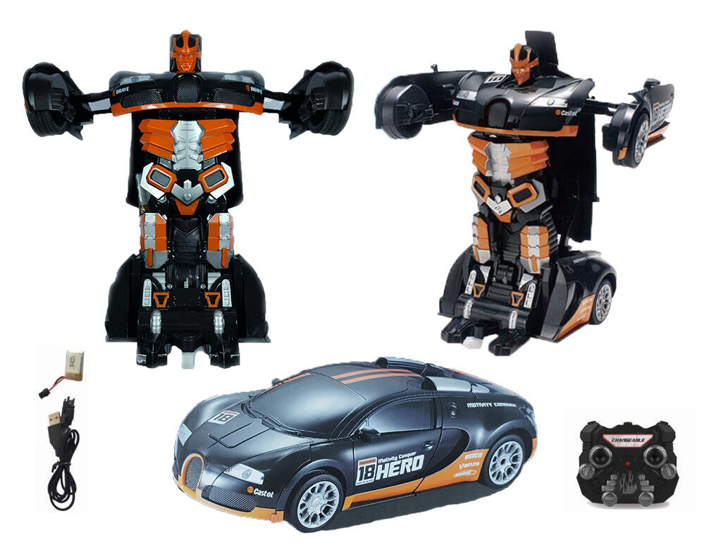 Transformers Remote Control Deformation Car into Robot Bugatti Veyron UK Seller