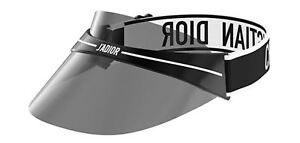 2d8cff4748 Christian Dior JA DIOR Club 1 Visor Sunglasses Black White Grey Lens ...