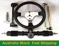Go Kart Go Cart 150cc Steering Wheel Tie Rod Rack Adjustable Shaft Package