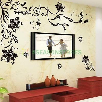 DIY Art Vinyl Wall Decal Stickers Decor Room Home Removable Paper Mural Flower
