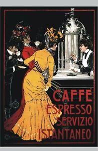 TARGA-VINTAGE-034-1900-CAFFE-039-ESPRESSO-034-Pubblicita-Coffee-Advertising-Poster-Plate