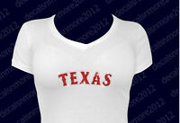 Mlb - Texas (rangers) - Bling - Iron-on Glitter Vinyl & Rhinestone Transfer