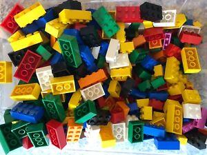Lego-500-Basic-Steine-Grundsteine-NUR-HOHE-BASIS-STEINE-gut-gemischt