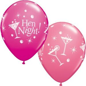 Hen-Night-Bubbly-Wild-Berry-amp-Rose-Pink-Qualatex-11-034-Latex-Balloons-x-5