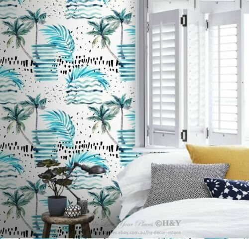 Geometric Beach Theme Wall Paper Sticker Removable Mural Kid Decor Wallpaper G16