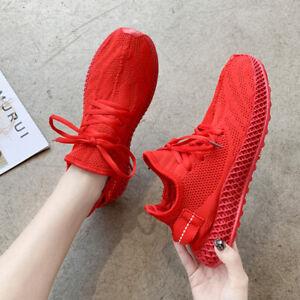Damen-Sneaker-Turnschuhe-Ultraleich-Freizeit-Flache-Schuhe-Sportschuh-Laufschuhe
