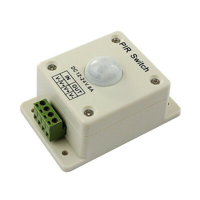 DC 12V-24V 8A Automatic Infrared PIR Motion Sensor Switch For light HOT