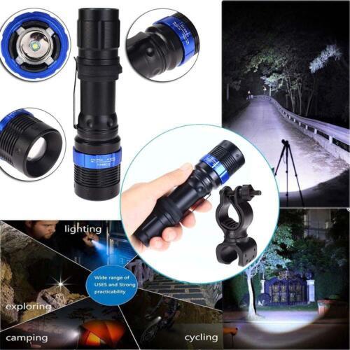 3000LM Hunting NEW Q5 LED Flashlight Focus Black Torch With Bike Mount Clip XI