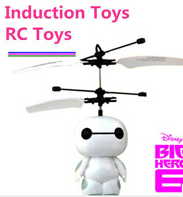 Disney RC Flying Robot Kid Toys Induction Toys Big Hero 6 Baymax Sensor Toys