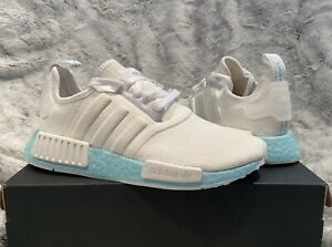 Adidas Nmd R1 Womens Sneakers Size 7 White Light Blue New Nib Ebay