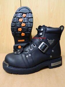 Details zu Harley Davidson® Boots Stiefel schwarz Leder Herren Gr. 46 91684 Brake Buckle