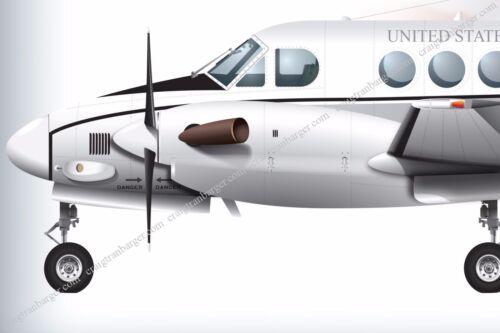 Aircraft,C12,C-12,HURON,transport,USA,Army,military,aviation,warbird,patrol