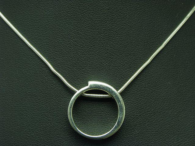 925 Sterling silver Kette & Anhänger mit Glasstein Besatz   Echtsilver   45,0cm