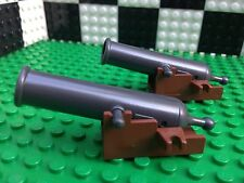 Lego Pirates QTY2 GREY AND BROWN CANNONS Guns Ships City Town Weapons