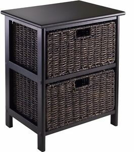 Superb Image Is Loading End Accent Table Furniture With 2 Storage Baskets