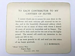 1935-JJ-Robinson-Owner-of-West-Sussex-Gazette-From-1891-Thank-You-Card-To-Staff