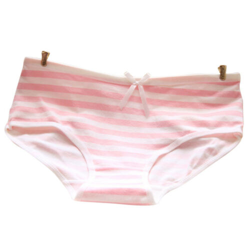 Women Cute Underwear Stripes Bow Cotton Briefs Panties Hipster Underpants P/&T