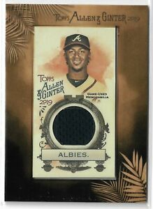 2019 Allen & Ginter Baseball Framed Mini Relic Parallel Ozzie Albies