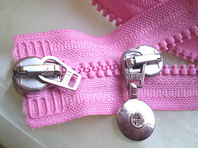 Reißverschluss GRAU HELL Zähne grob OPTI Größe 5 Zip Cremallera fermuar cipzár
