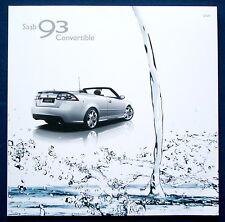 Prospekt brochure 2009 Saab 9-3 Cabrio * Convertible (USA)