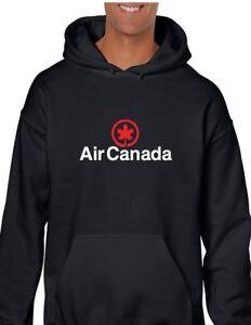 Logo Sweatshirt Geek Hooded Black Airline Retro Air Hoodie Canadian Canada qSwExzv