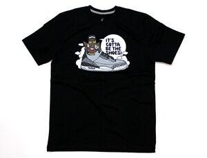 828a9e3f16e80b Nike Air Jordan XIII Spike Vs Psych T-Shirt Black White Grey 619926 ...