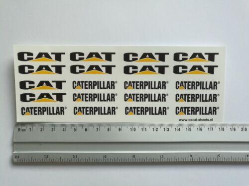 Caterpillar water transfer decals aufkleber set CAT