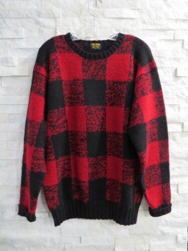 lana Maglione rosso scozzesi a Pristine vintage di Brothers L quadri e Brooks nero n4xSpqC