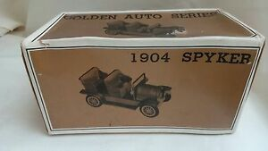DIECAST CAR  1904 SPYKER  Golden Auto Series Made in Japan - Eastbourne, United Kingdom - DIECAST CAR  1904 SPYKER  Golden Auto Series Made in Japan - Eastbourne, United Kingdom