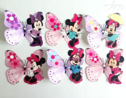 Minnie Mouse décorations pour bébé Disney Minnie Mouse 3d Papillons