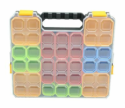 Parts Craft Fixings Organiser Storage Case & Removable Plastic Bins Box Boxes