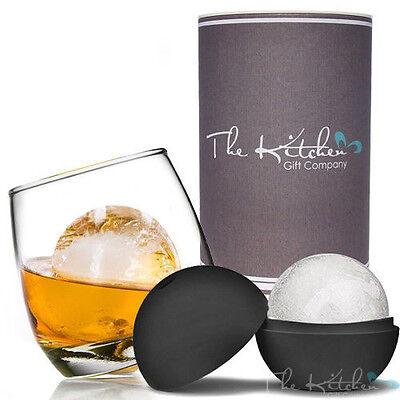 Rocking Whiskey Glass & Mega Ice Ball Gift Set - Whisky Glass, Ice Mould & Tube