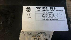2004 Volkswagen VW Touareg Keyless Entry Module 3D0 909 135 P